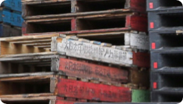 Severely damaged pallet
